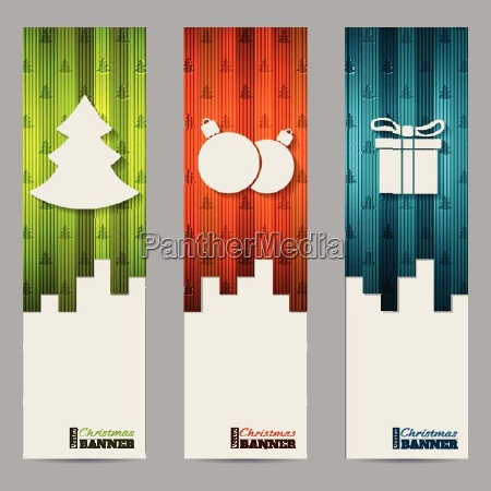 christmas shopping labels with striped colorful