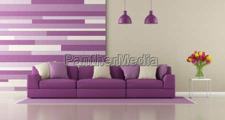 contemporary, purple, living, room - 19181037