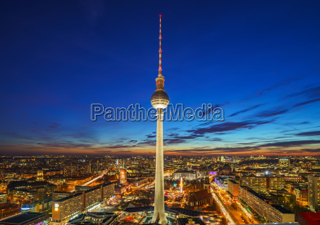 aerial view on alexanderplatz in berlin