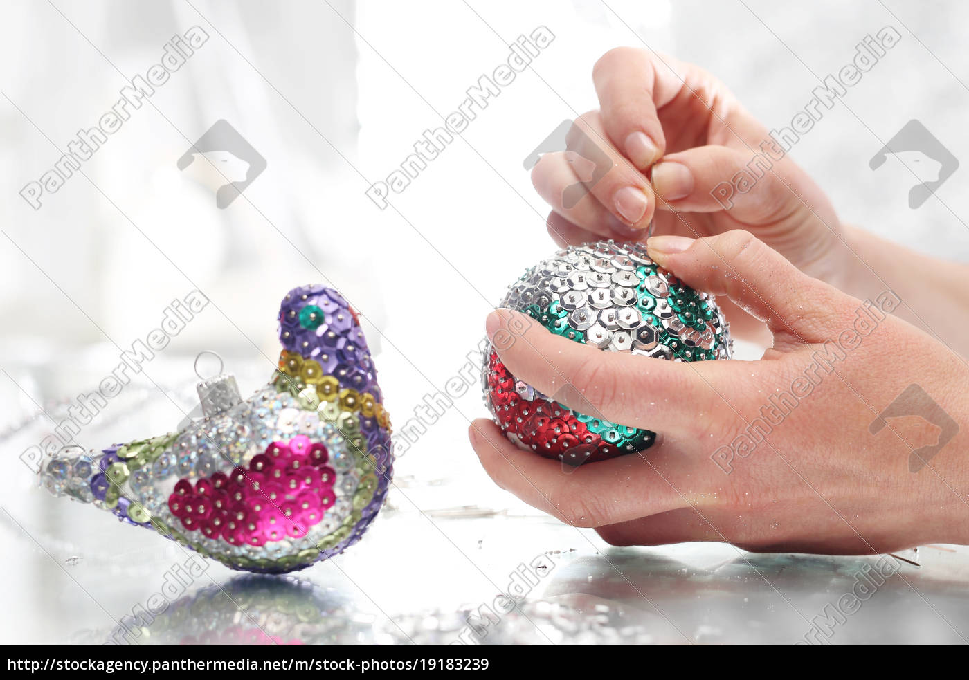 beautiful, christmas, decorations, sequin, baubles - 19183239