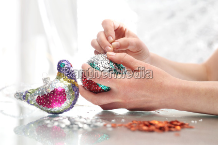 beautiful, christmas, decorations, sequin, baubles - 19183241