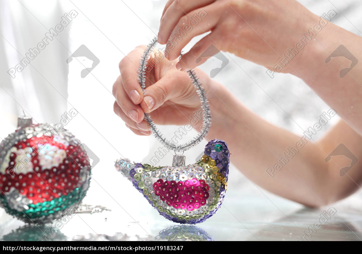 beautiful, christmas, decorations, sequin, baubles - 19183247