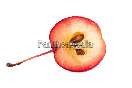red paradise apple isolated on white