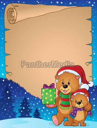 parchment with christmas bears theme 1