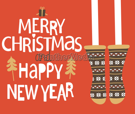 christmas and happy new year greeting