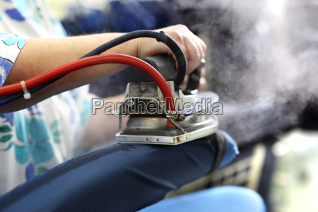 clothing industry ironing steam presser in
