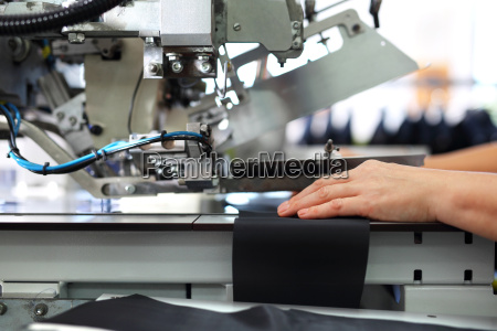 the production plant sewing clothes by