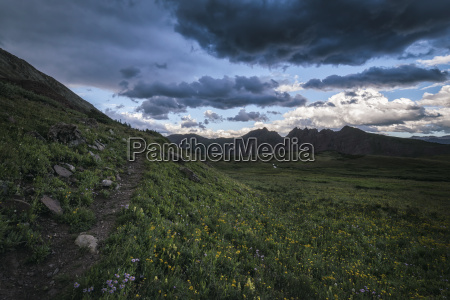 landscape in the rocky mountains maroon