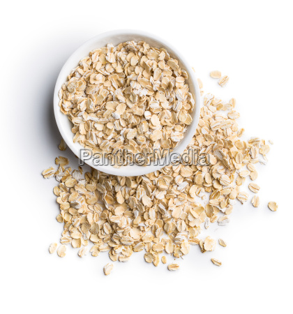 dry rolled oatmeal in bowl