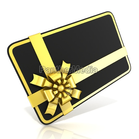 black blank gift card with golden
