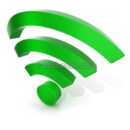 wireless network symbol 3d