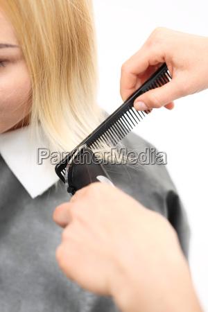 hair cutting with a hair clipper