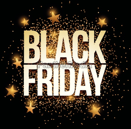 black friday banner with gold glitter