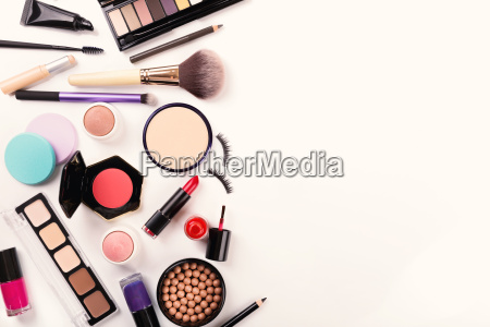 makeup, tools, and, accessories, with, copy - 19203241
