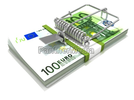 3d render mousetrap installed on euro