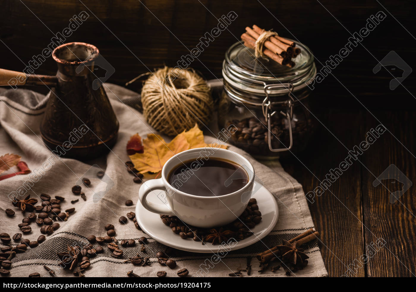 cup, of, coffee, with, some, objects - 19204175