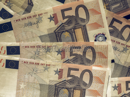 vintage fifty euro notes