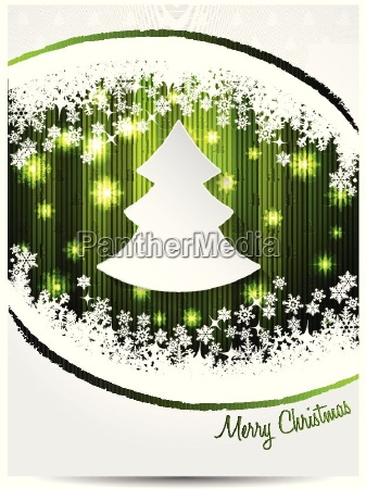 green white christmas greeting card