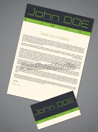 modern cover letter cv resume in