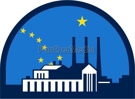 power plant alaska flag half circle