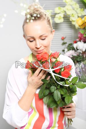 a bouquet of cut flowers