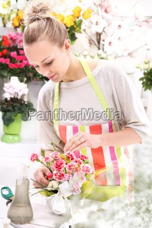 floral composition on a sponge floristic