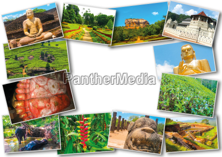 collage from images of sri lanka