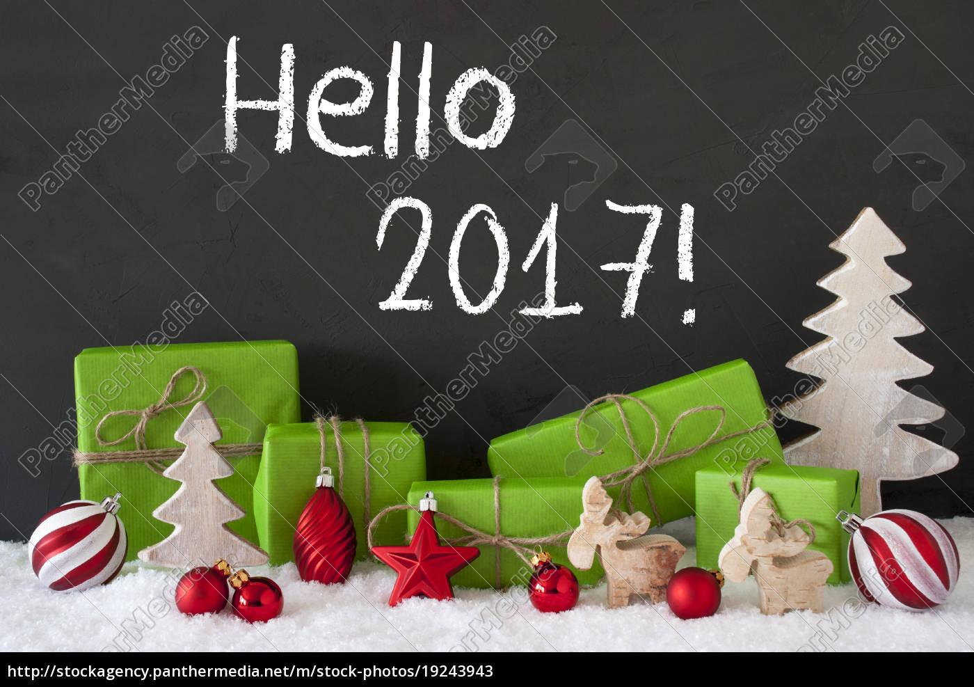 christmas, decoration, , cement, , snow, , text, hello - 19243943