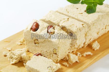 greek halva with almonds