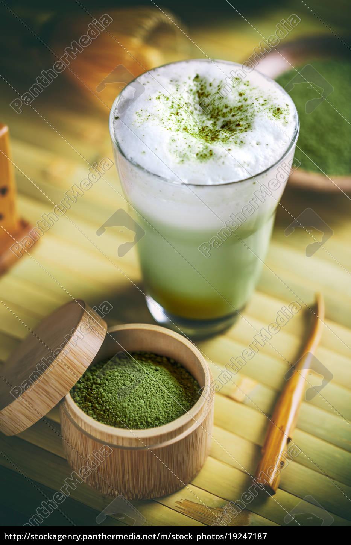 green, tea, matcha, latte - 19247187