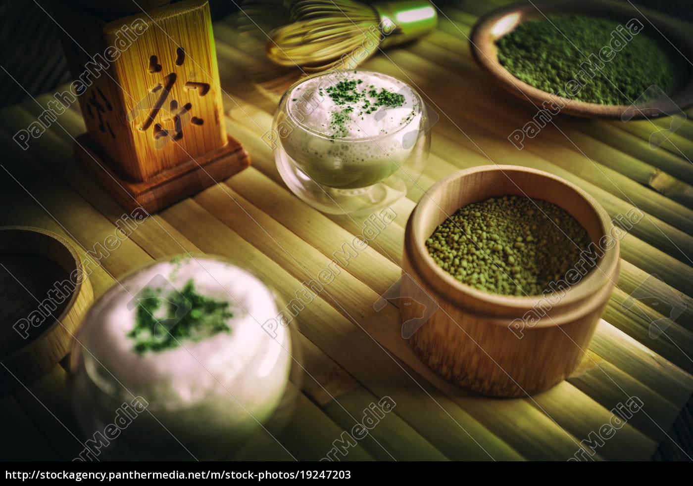 green, tea, matcha, latte - 19247203