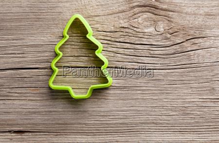 cookie shape fir tree on a