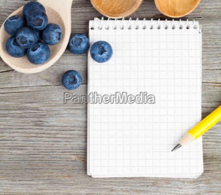 recipe book for healthy lifestyles concept