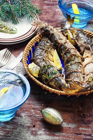 christmas, dish, of, roasted, fish - 19249723