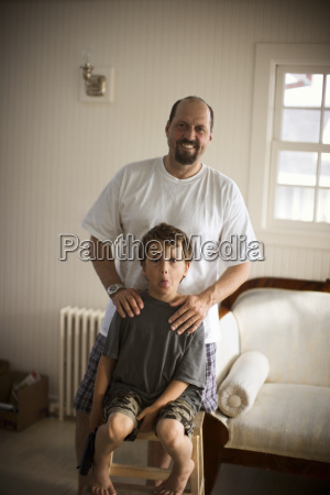 view of a father and a