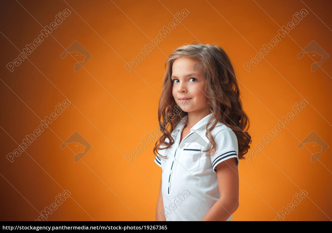 the, cute, cheerful, little, girl, on - 19267365