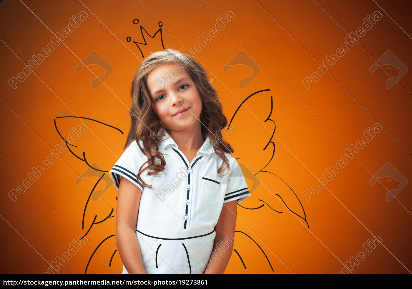 the, cute, cheerful, little, girl, on - 19273861