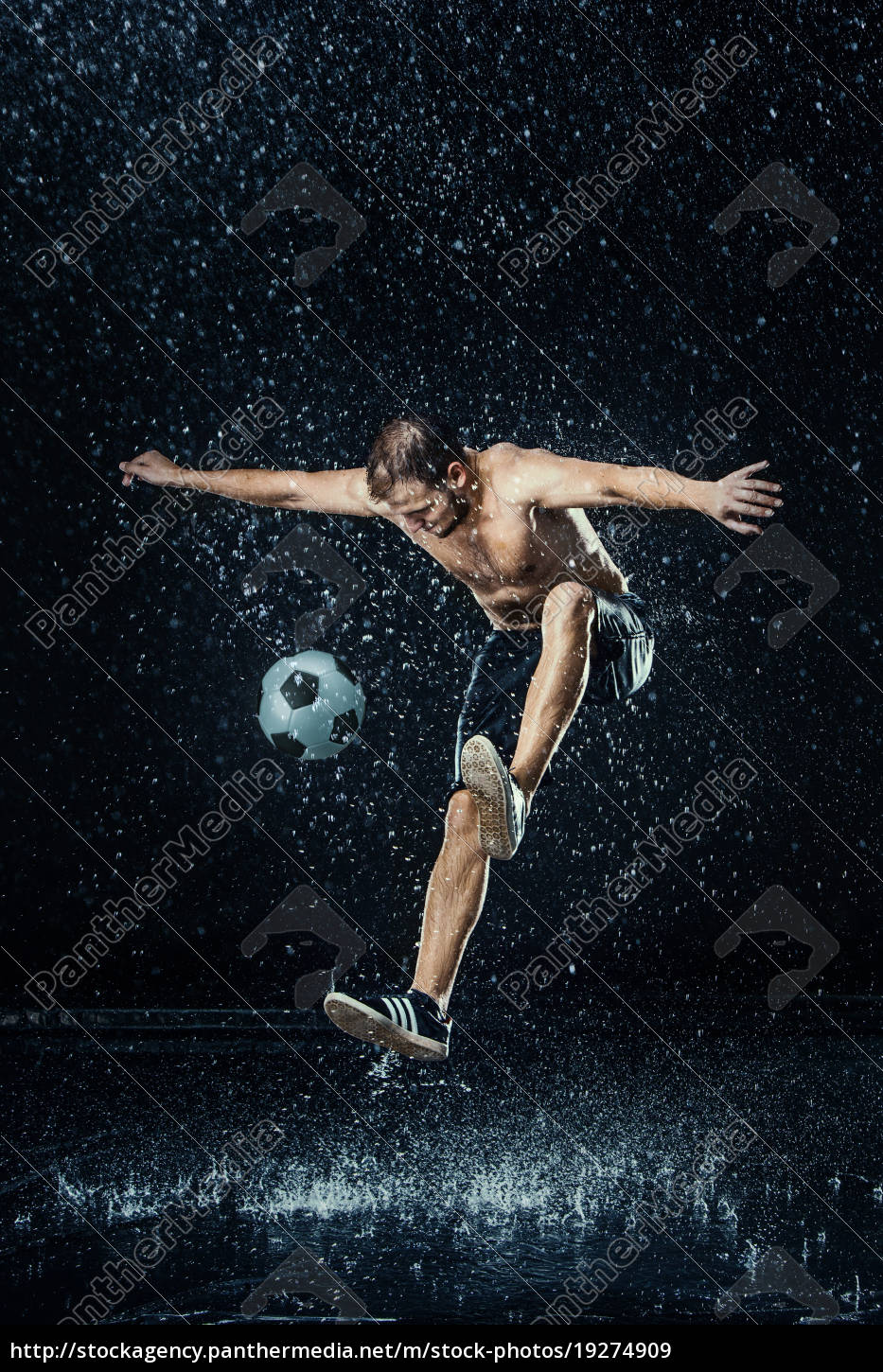 water, drops, around, football, player - 19274909