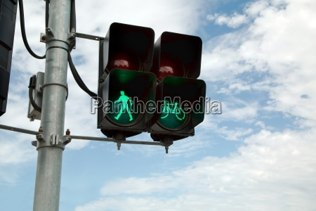 green light in urban street