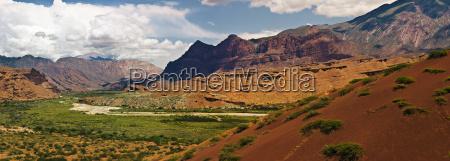 panoramic shot of rocky canyon landscape