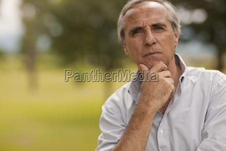 portrait of mature farmer