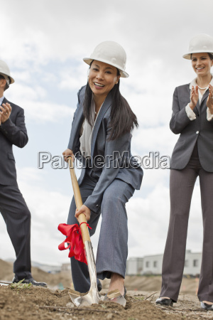 young businesswoman wearing a suit and