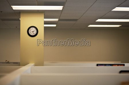 empty office space in a building