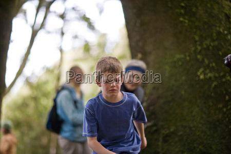 unhappy boy close to tears
