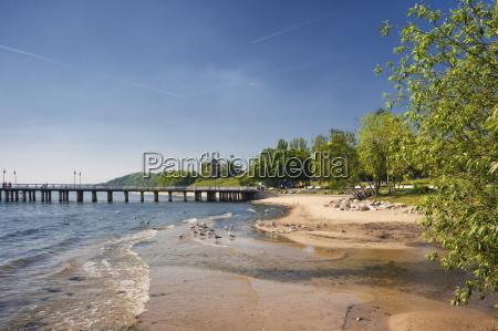 poland pomerania gdynia baltic sea beach