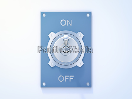blue flip switch on off 3d