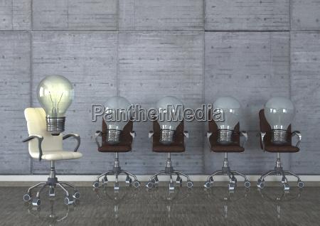 3d illustration best idea swivel chairs