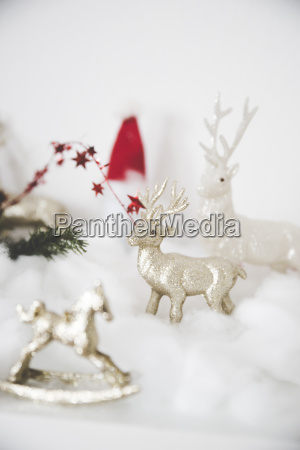 christmas decoration with stags