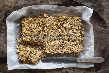 homemade oat bar flapjack