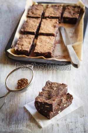 raw food brownies with cocoa and